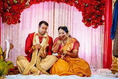 Indian lovebirds kansar bhakshan ritual