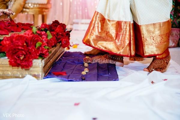 Maharani at the Saptapadi ritual.