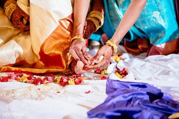 Closeup capture of the Kanyadana ritual.