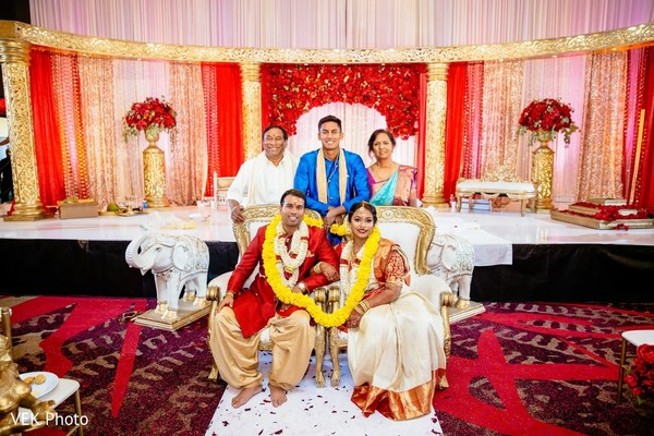 Indian couple with relatives capture.
