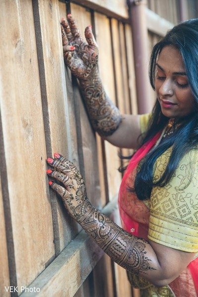 Incredible Indian bridal henna art.