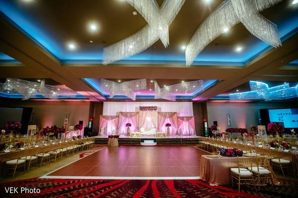 Splendid Indian wedding dance floor.