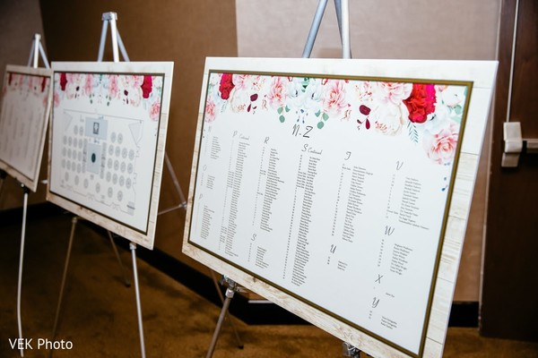 Enchanting Indian wedding table number signs.