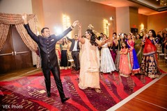 Lovely Indian couple entering their reception.