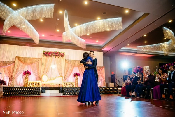Lovely mother and son dance.