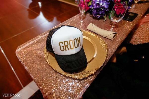 Indian groom's special cap capture.