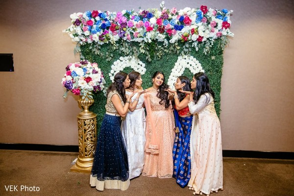 Graceful Indian bride and bridesmaids photoshoot.