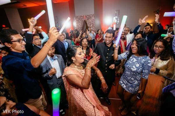 Indian bride rocking the dance floor.