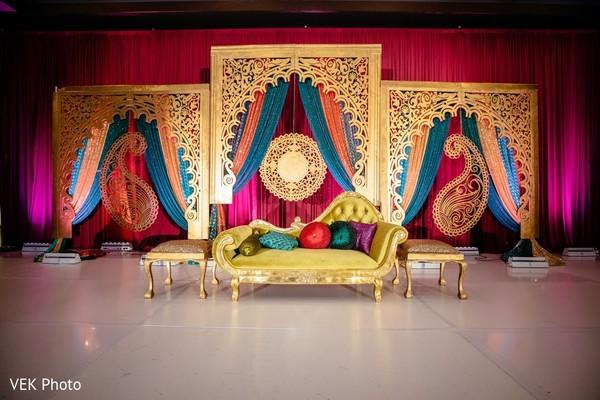 Beautiful Indian sangeet stage decor.