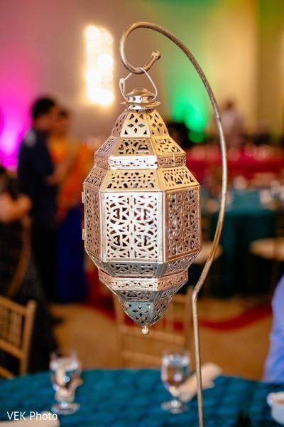 Sangeet hanging lantern decor.