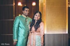 Gorgeous Indian lovebirds sangeet  style.