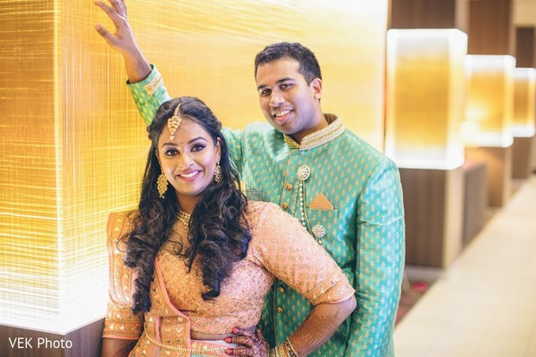 Ravishing Indian bride  and groom capture.
