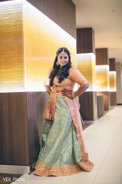 Ravishing indian bride posing.