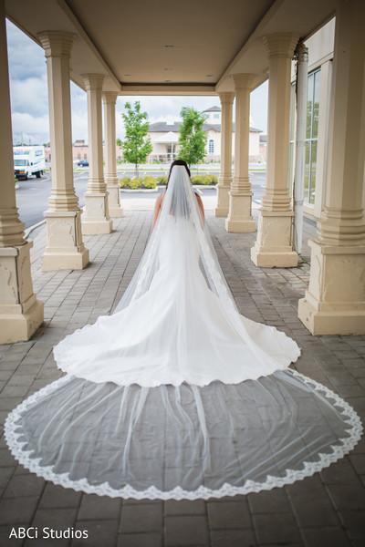 Stunning Indian bridal white wedding veil.