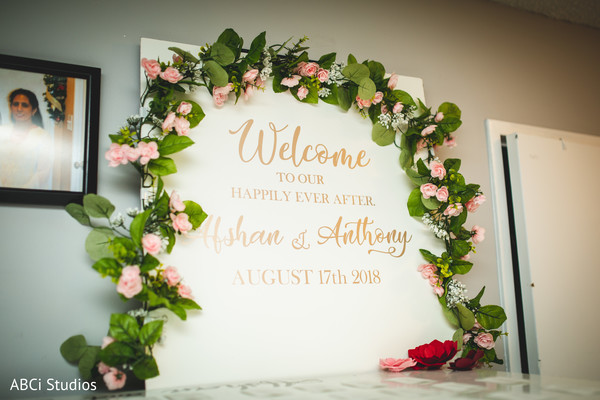 Marvelous Indian wedding welcome sign.