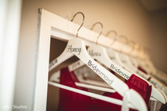 Incredible Indian bridesmaids personalized hangers.