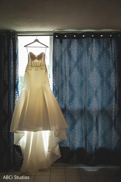 Marvelous Indian bridal white dress.