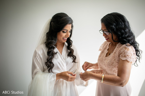 See this indian bride getting ready for her Christian ceremony.