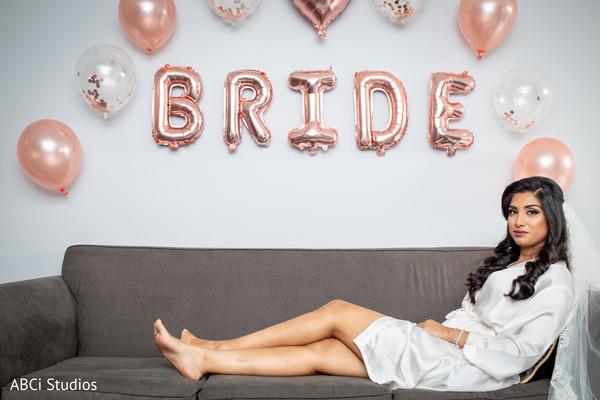 Enchanting Indian bride getting ready photo shoot.
