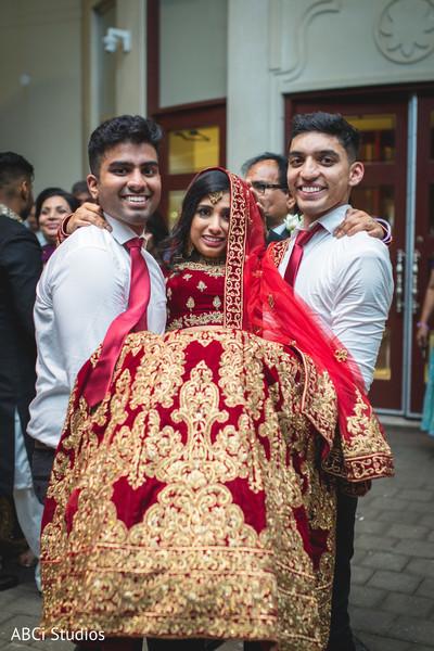 Incredible Indian bride entrance to reception party.