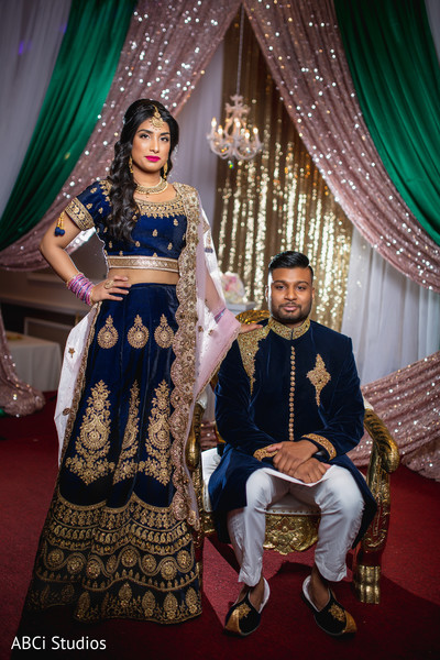 Beautiful Indian couple's photo session.