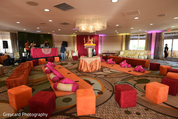 Sangeet seats decoration.