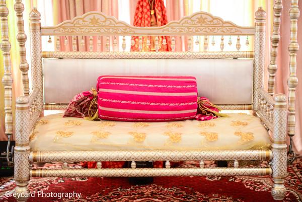 Elegant Indian sangeet swing seat decor.