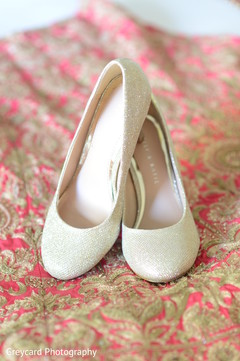 Elegant Indian bridal shoes.