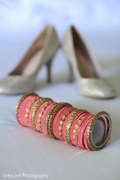 Marvelous closeup capture of bridal choora.
