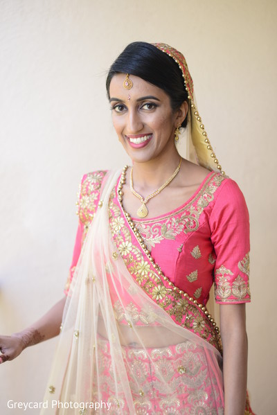 Elegant Indian bride ready for ceremony.