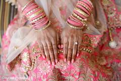Lovely pink Maharani's bangles and nail polish.