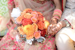 Lovely indian bridal bouquet.