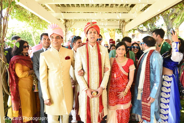 Indian groom about to enter his ceremony.