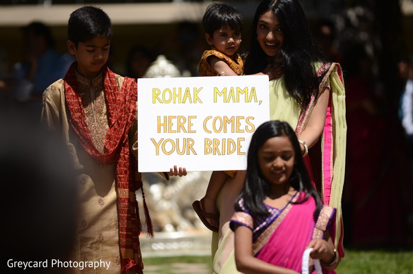 See this lovely Indian pageboys and flowergirl.