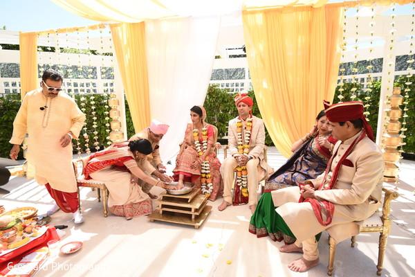 Maharani  during the bichiya Ceremony.