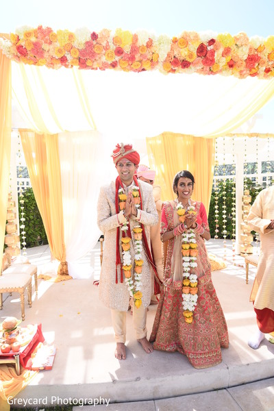 Sweet Indian couple at their ceremony capture.