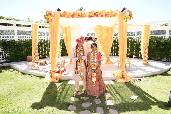 Indian lovebirds romantic scene.