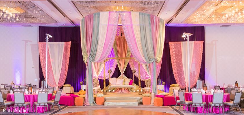 Stunning Sangeet venue decorations.