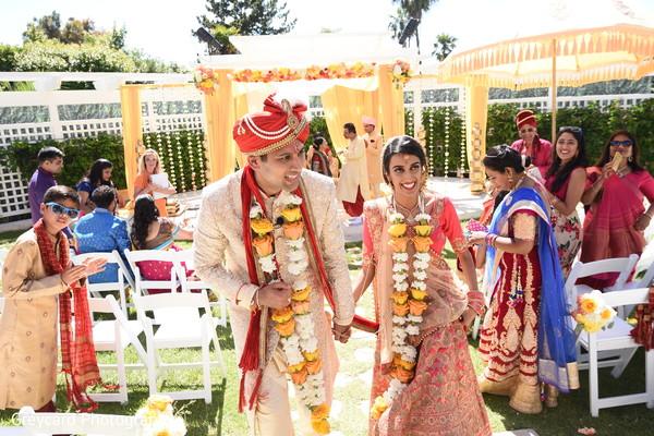 Joyful Indian wedding ceremony capture.