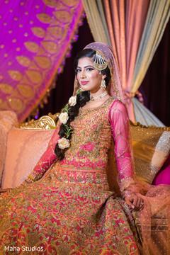 Dazzling Indian bride portrait.