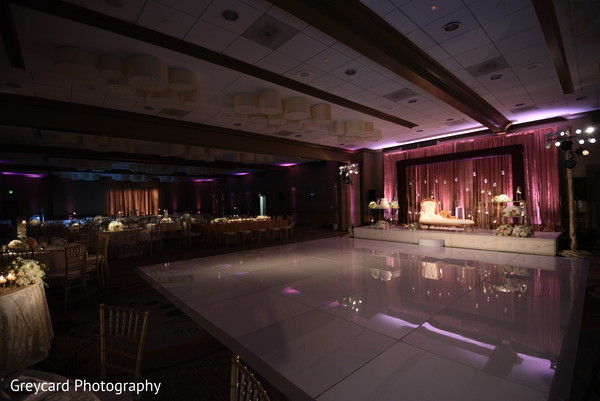 Amazing Indian wedding dance floor and reception decoration.