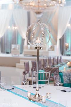 Dreamy indian wedding reception table decor.