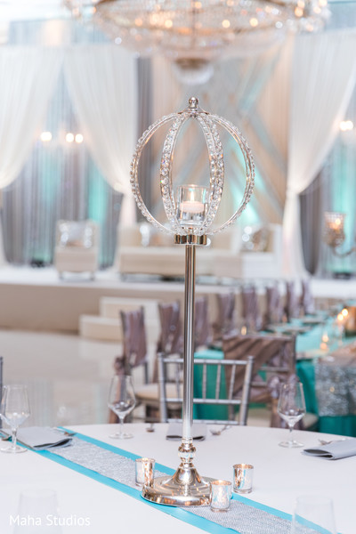 Dreamy indian wedding reception table decor.