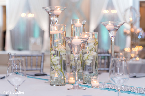 indian wedding reception decor,table centerpiece,candle decor