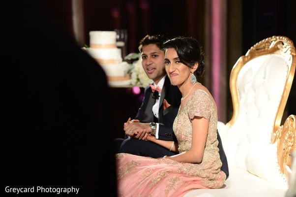See this beautiful indian couple at reception.