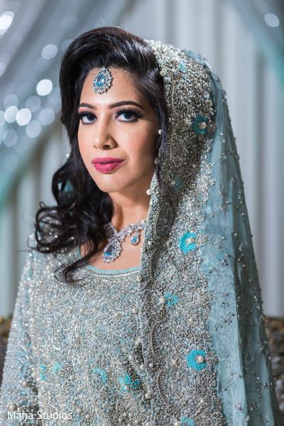 Joyful Indian bride portrait.