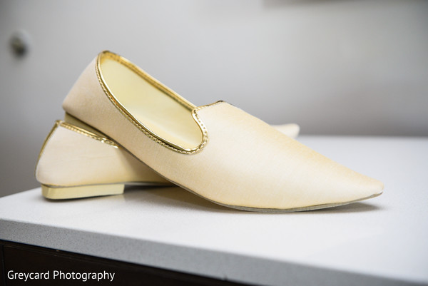 Elegant Indian groom's ceremony shoes.