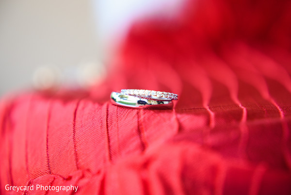 Closeup capture of Indian wedding bands.