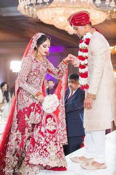 Enchanting Indian bride entrance.
