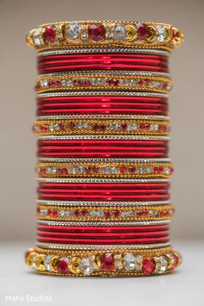 Marvelous Indian bridal red  bangles.